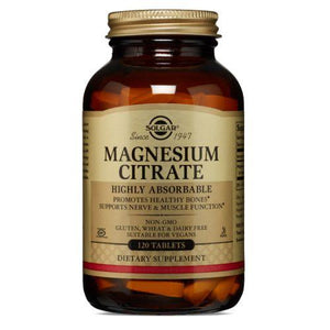 Solgar Magnesium Citrate Tablets - 120 Tablets