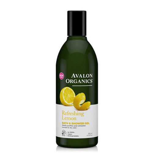 Bath & Shower Gel Organic Lemon 12 Oz by Avalon Organics