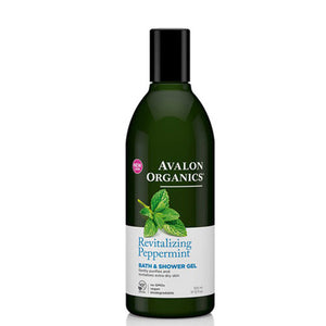 Bath & Shower Gel Revitalizing Peppermint, 12 Oz by Avalon Organics