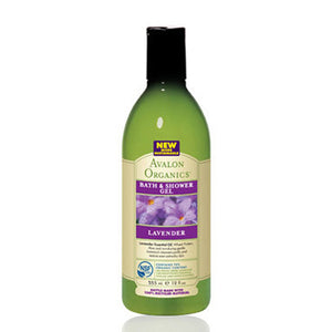 Bath & Shower Gel Organic Lavender Value Size 32 Oz by Avalon Organics