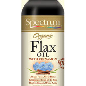 Flax Oil OG, CINNAMON, 8 OZ by Spectrum Essentials