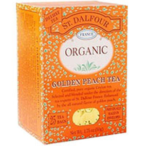 Organic Golden Peach Tea 25 CT by St.Dalfour