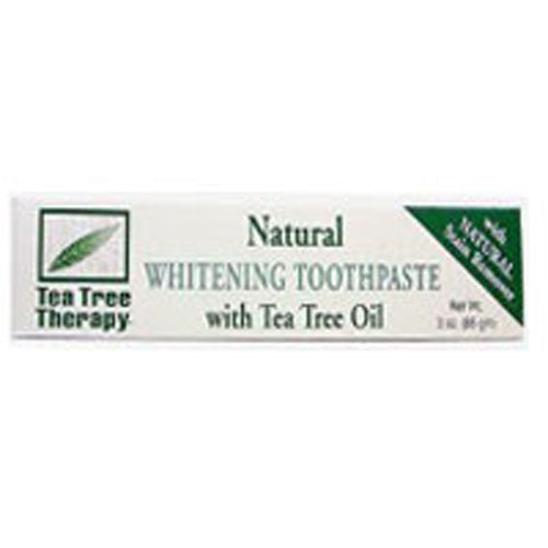 Natural Whitening Toothpaste 3 OZ EA by Tea Tree Therapy