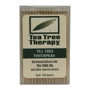 Tea Tree Therapy Toothpicks 100 ct by Tea Tree Therapy