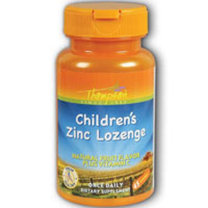 Zinc Children's Lozenge With Vit C Fruit Flavor 45 Loz by Thompson (2584060297301)