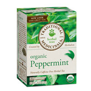 Organic Peppermint Tea 16 Bags by Traditional Medicinals Teas