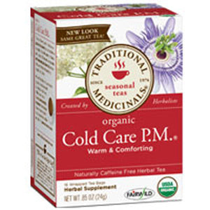 Organic Cold Care P.M. Tea 16 Bags by Traditional Medicinals Teas (2588712632405)