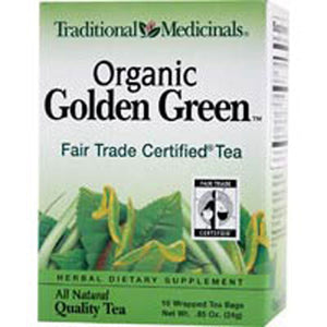 Golden Green Tea 16 Bags by Traditional Medicinals Teas (2588712894549)
