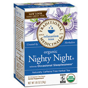 Organic Nighty Night Tea 16 Bags by Traditional Medicinals Teas (2584019370069)