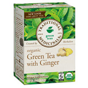 Organic Green Tea with Ginger 16 Bags by Traditional Medicinals Teas