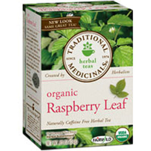 Organic Raspberry Leaf Tea 16 Bags by Traditional Medicinals Teas