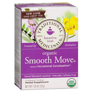 Organic Smooth Move Tea 16 bags by Traditional Medicinals Teas