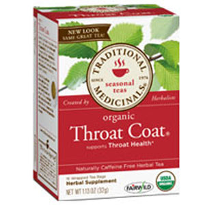 Organic Throat Coat Tea 16 Bags by Traditional Medicinals Teas (2584019697749)