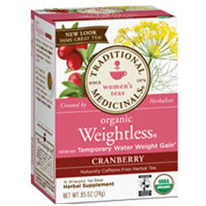 Organic Weightless Tea Cranberry 16 Bags by Traditional Medicinals Teas