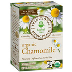 Organic Chamomile Tea 16 Bags  by Traditional Medicinals Teas (2584060395605)