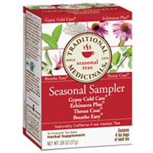 Seasonal Sampler Teas 16 Bags by Traditional Medicinals Teas