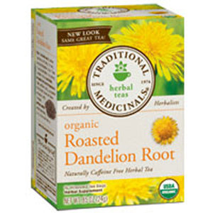 Organic Roasted Dandelion Root Tea 16 Bags by Traditional Medicinals Teas