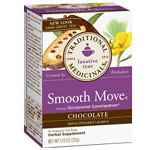 Organic Smooth Move Tea Chocolate 16 bags by Traditional Medicinals Teas