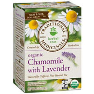 Organic Chamomile with Lavender Tea W/lavender 16 Bags by Traditional Medicinals Teas (2588925329493)