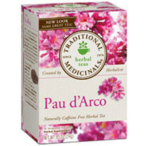 Pau D'Arco Herbal Tea Yellow 16 Bags by Traditional Medicinals Teas (2584019468373)