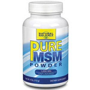 MSM Powder SULPHUR POWDER, 4 OZ by Natural Balance (Formerly known as Trimedica)