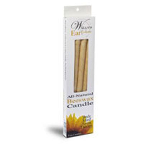 All Natural Beeswax Candle 4 PK EA by Wallys Natural Products