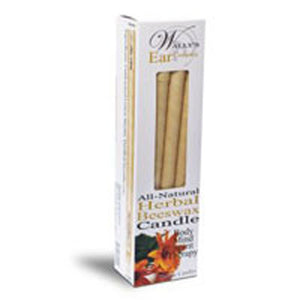 All Natural Beeswax Candle HERBAL, 4 PACK by Wallys Natural Products