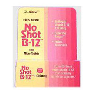 No-Shot B-12 Homeopathic Sublingual 100 Tabs by World Organics (2588724691029)