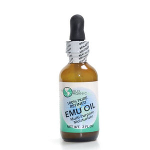 EMU Oil 100% pure with Dropper 2 oz by World Organics