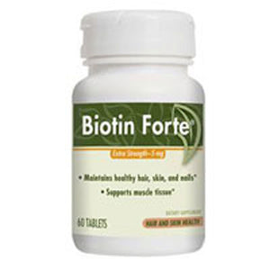 Biotin Forte 60 Tabs by Enzymatic Therapy