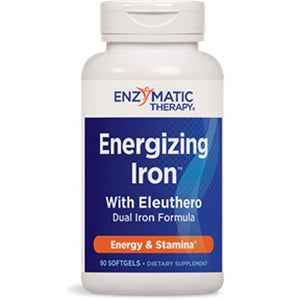 Energizing Iron with Eleuthero (Siberian Ginseng ) 90 Softgel by Enzymatic Therapy