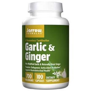 Garlic + Ginger 100 Caps by Jarrow Formulas (2583952556117)
