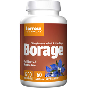 Borage GLA-240+Gamma Tocopherol 60 Softgel  by Jarrow Formulas (2590055596117)