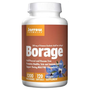 Borage GLA-240+Gamma Tocopherol 120 Softgel by Jarrow Formulas (2583953473621)