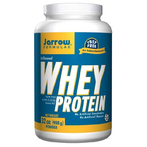 Whey Protein All Natural 32 oz, 908 mg, (2 lbs) by Jarrow Formulas