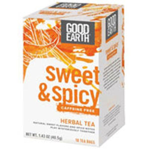 Sweet and Spicy Caffeine Free Herbal Tea 18 Tea Bags by Good Earth Teas