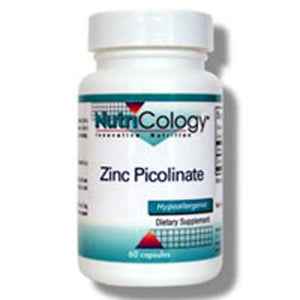 Zinc Picolinate 60 Capsules by Nutricology/ Allergy Research Group