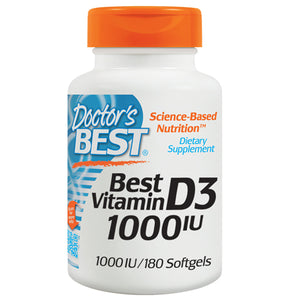 Vitamin D3 180 Softgels by Doctors Best (2587250819157)