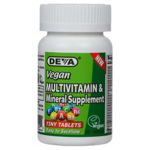Vegan Tiny Tab Multivitamin & Mineral 90 Tabs by Deva Vegan Vitamins