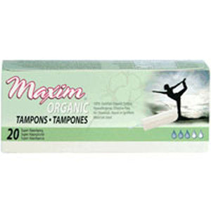 Non Applicator Tampon Super 20 CT by Maxim Hygiene Products