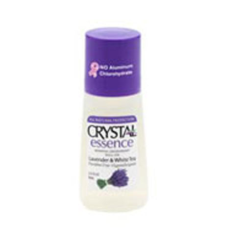 Mineral Deodorant Roll On Lavender & White Tea 2.25 oz by Crystal Body Deodorant