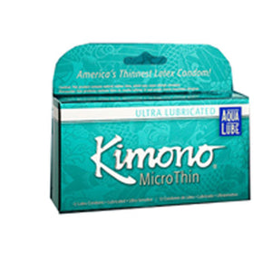 Kimono MicroThin Condoms Aqua Lube Large 3 CT by Mayer Laboratories