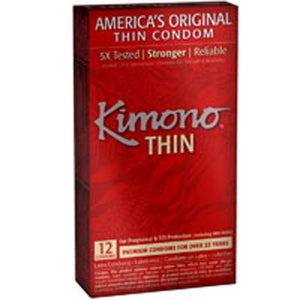 Kimono Thin Condoms 12 CT by Mayer Laboratories