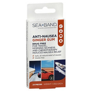Sea-Band Anti-Nausea Ginger Gum 24 each by Sea-Band