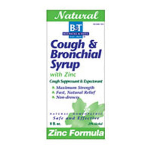 Cough & Bronchial Syrup WITH ZINC, 8 OZ by Boericke & Tafel (2583976116309)