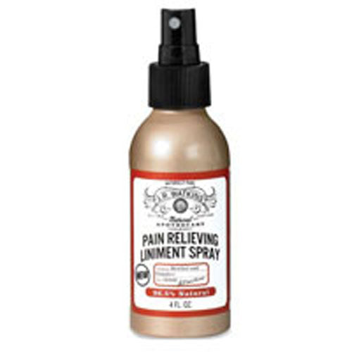 Natural Pain Relieving Liniment Spray 4.0 oz by J R Watkins