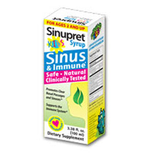 Sinupret Syrup For Kids 3.38 oz by Bionorica (2587264385109)