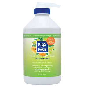 Whenever Shampoo Green Tea & Lime, 32 Oz by Kiss My Face (2589074751573)