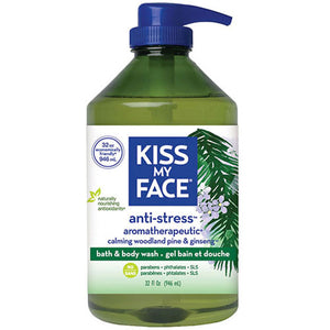 Anti-Stress Bath & Body Wash Shower Gel 32 oz by Kiss My Face (2589074882645)