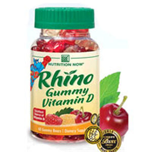 Rhino Vitamin D Bears 60 ct by Nutrition Now (2587265663061)